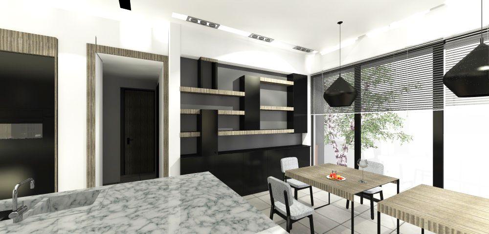 Création du0027une cuisine et ouverture de murs en façade permettant une - salon sejour cuisine ouverte