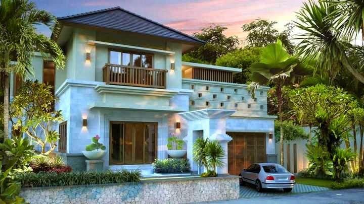 Gaya Desain Rumah Bali 2 Lantai Gambar 754 Home Design Ideas