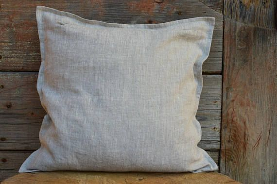 Natural Linen Pillow Cover Gray Decorative Pillows Sofa Etsy Delectable Gray Decorative Bed Pillows