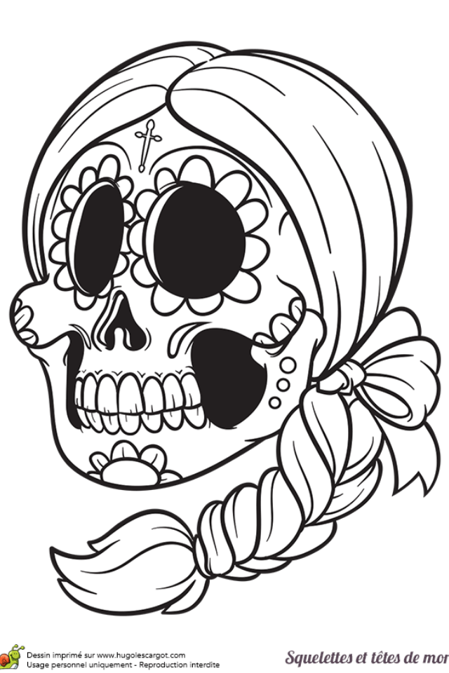 Pin by Lily Xavez on Crafty bulletin Skull coloring