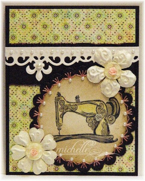 Prickley Pear Rubber Stamps: Old Fashion Sewing Machine