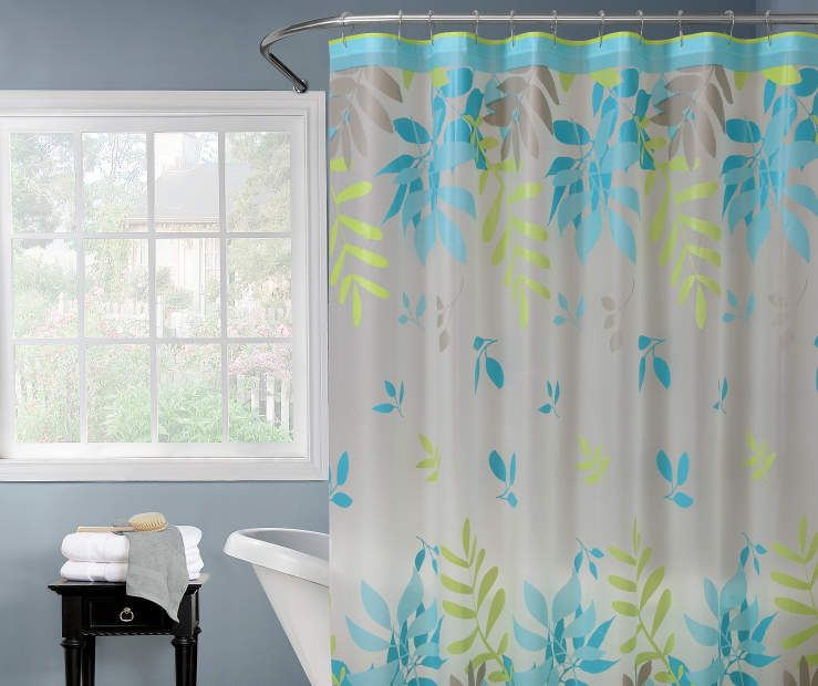 Just Home Margaret Falling Leaf Shower Curtain Big Lots Curtains Shower Curtain Big Lots