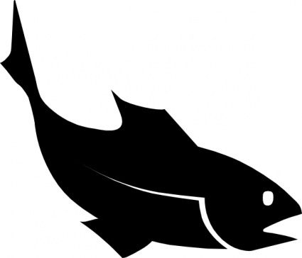 Moreno Fishblack Clip Art Fish Silhouette Animal Silhouette Fish Vector