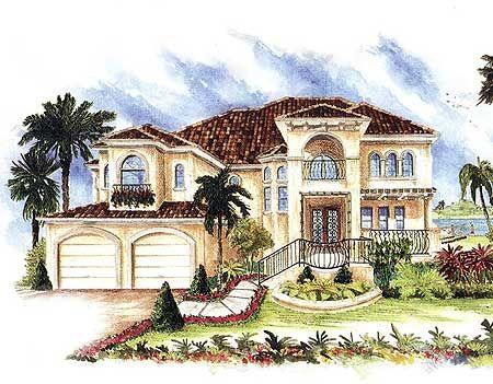 plan 66068we elevator and elevated walkways spanish style homesmediterranean house plansmediterranean - Elevated Home Designs