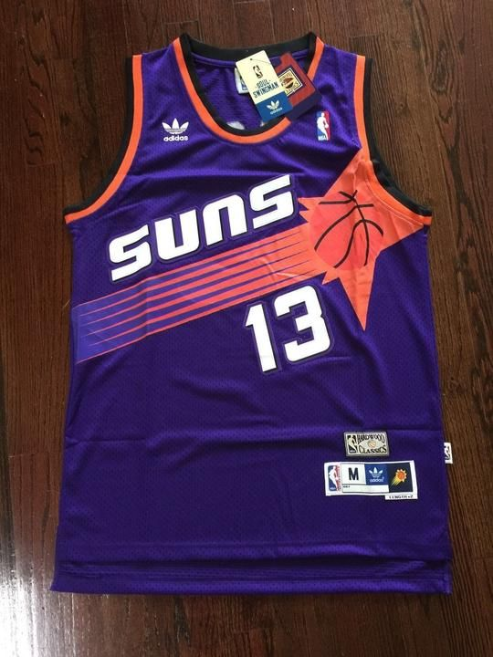 Men 13 Steve Nash Jersey Purple Phoenix Suns Throwback Swingman Jersey 6bc5d6d65