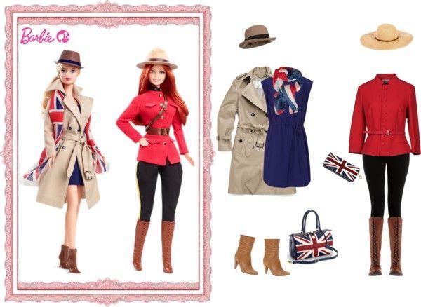 """Barbie: Britannia"" by ealkhaldi ❤ liked on Polyvore"