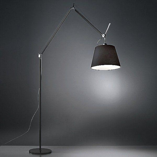 Tolomeo Mega Floor Lamp By Artemide Color Aluminum Finish Aluminum Usc Tlm0100 Design By Michele De Lucchi With Images Floor Lamp Lamp Flooring
