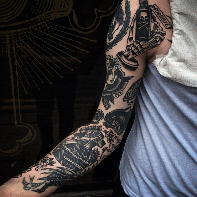 Traditional Black And Grey Tattoo: Black And Grey Tattoo Ideas. Such Talented Artists