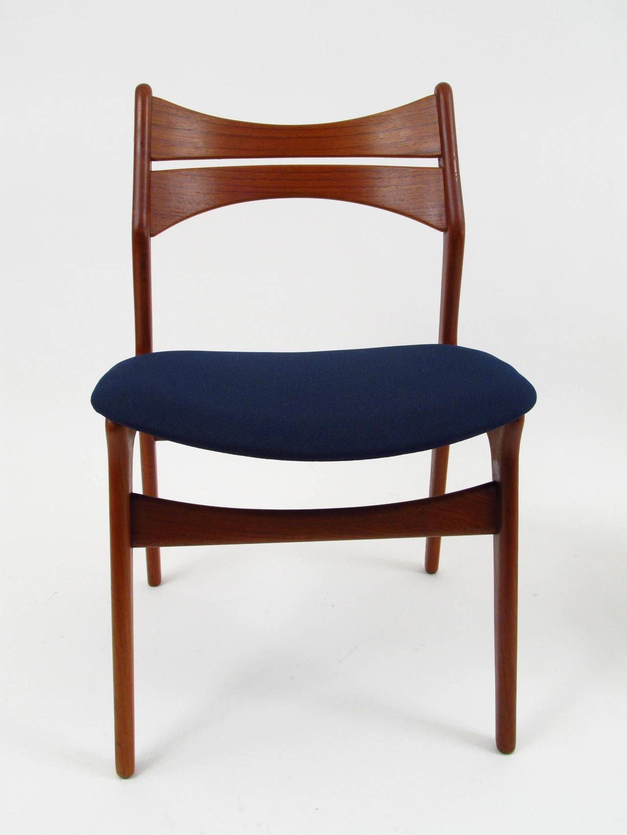 Set Of Six Danish Teak Dining Chairs Designed By Erik Buch