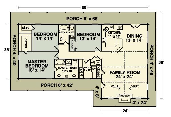 Homestead Home Plan Loghome Com House Plans Simple House Plans Small House Floor Plans
