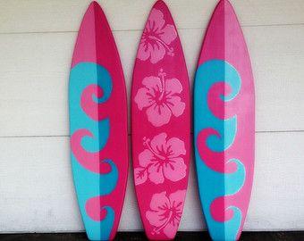4 Foot Surfboard wall art Beach decor wall by SerendipitySurfShop ...