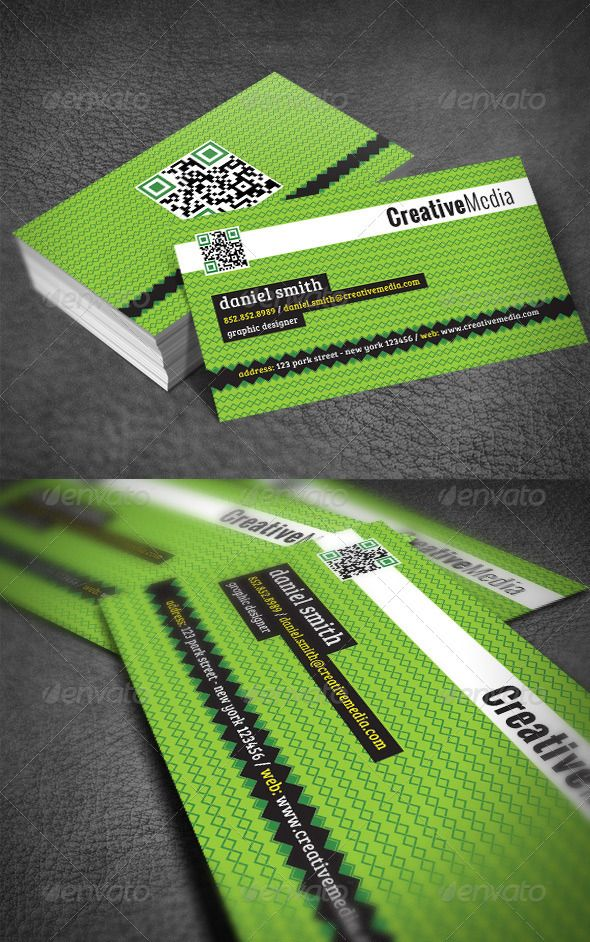 Green Modern Business Card #GraphicRiver Business card ...