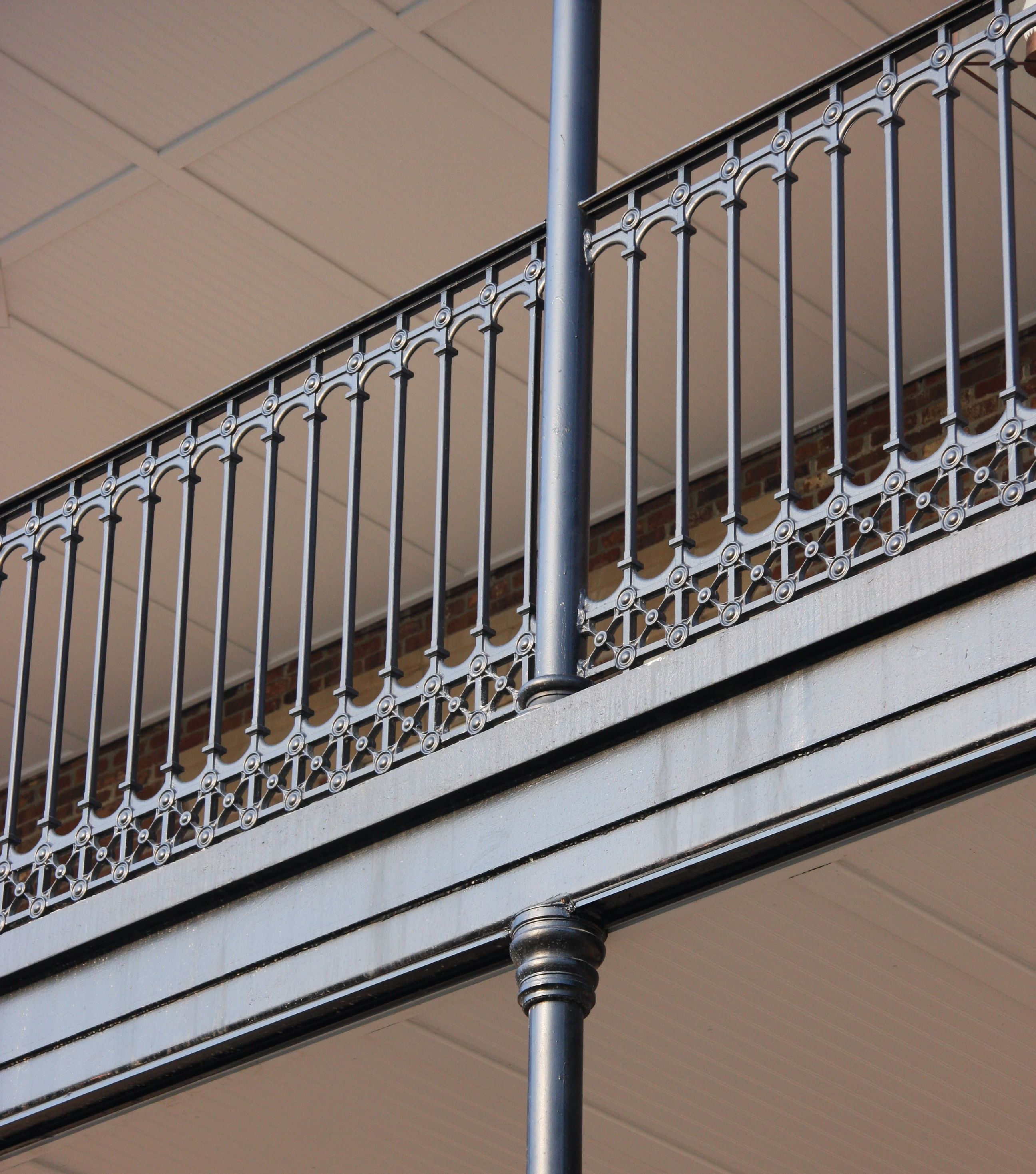 Cast iron stair and balcony railings archives heritage for Terrace railing design