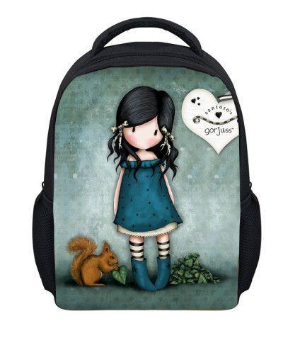 Cute Illustration Little Girl Prints School Bags Gorjuuss Vintage Backpack For Teenagers Children Book Bag Sweet Cartoon Mochila