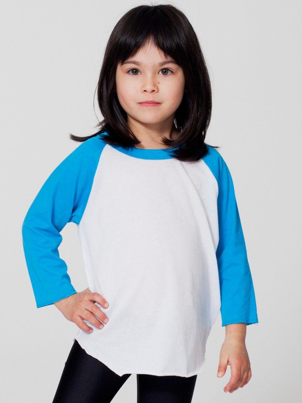 Kids Poly-Cotton 3/4 Sleeve Raglan | Shop American Apparel