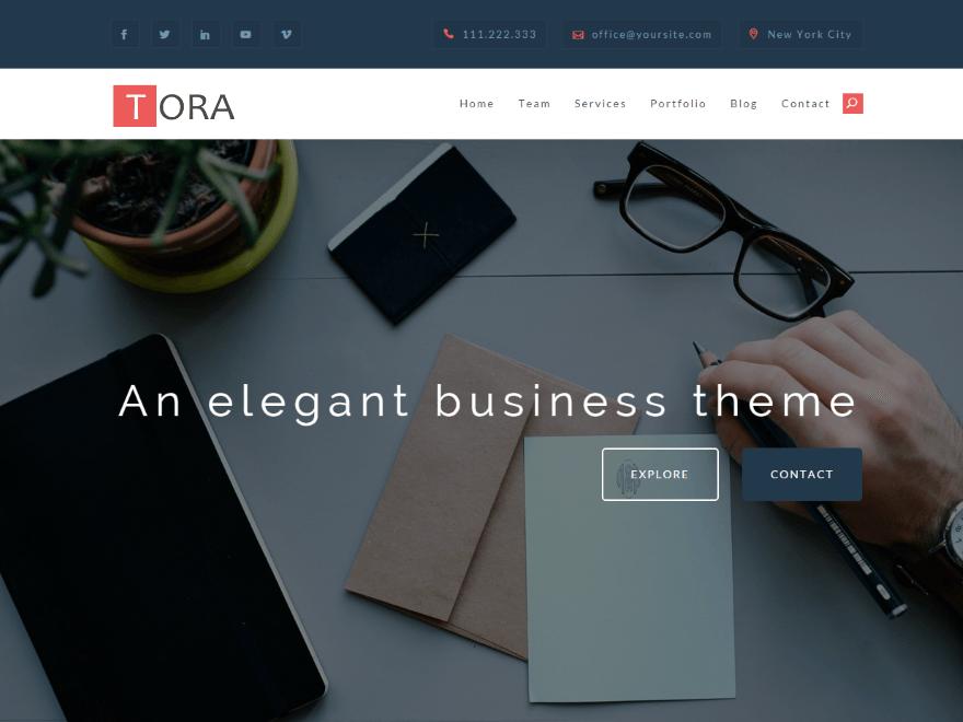 Tora — Free WordPress Themes | Interaction design | Pinterest ...