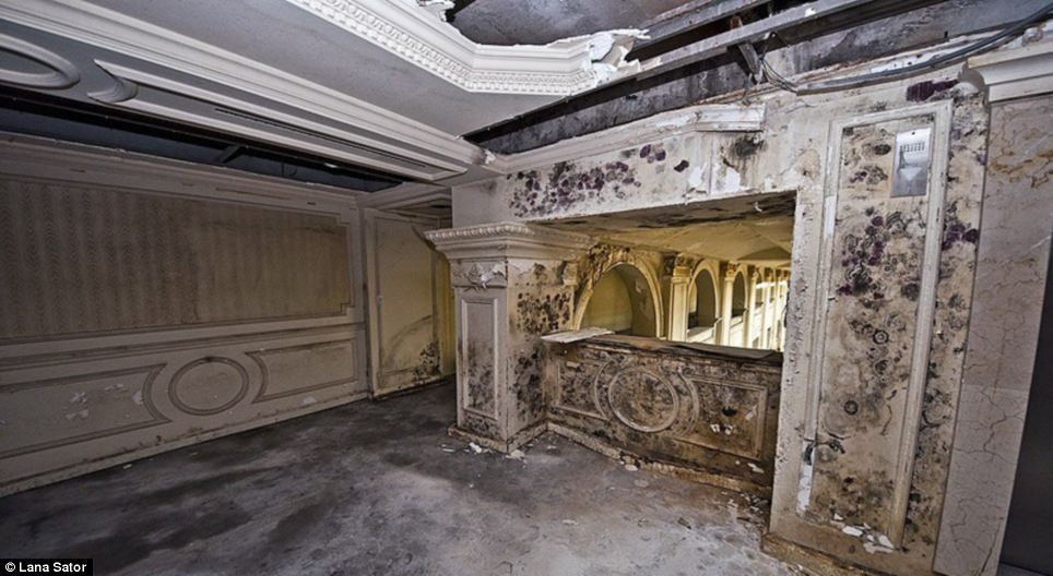 Now and Then Abandoned Resorts | ... been grand function rooms at the hotel have instead been left to decay