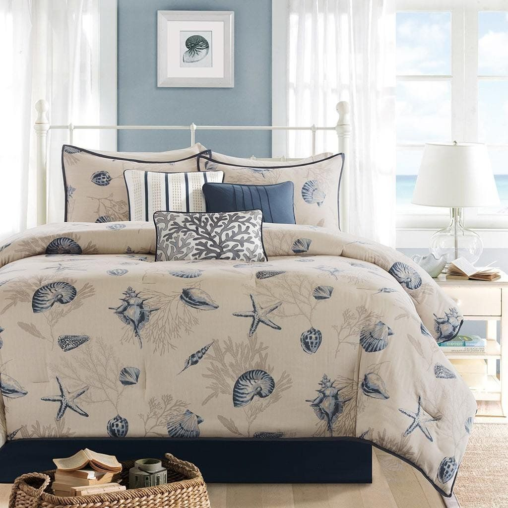 set cal comforter blue animal king cover fishes underwater printed country twin pillow ocean dovet product full queen shams bedding sets