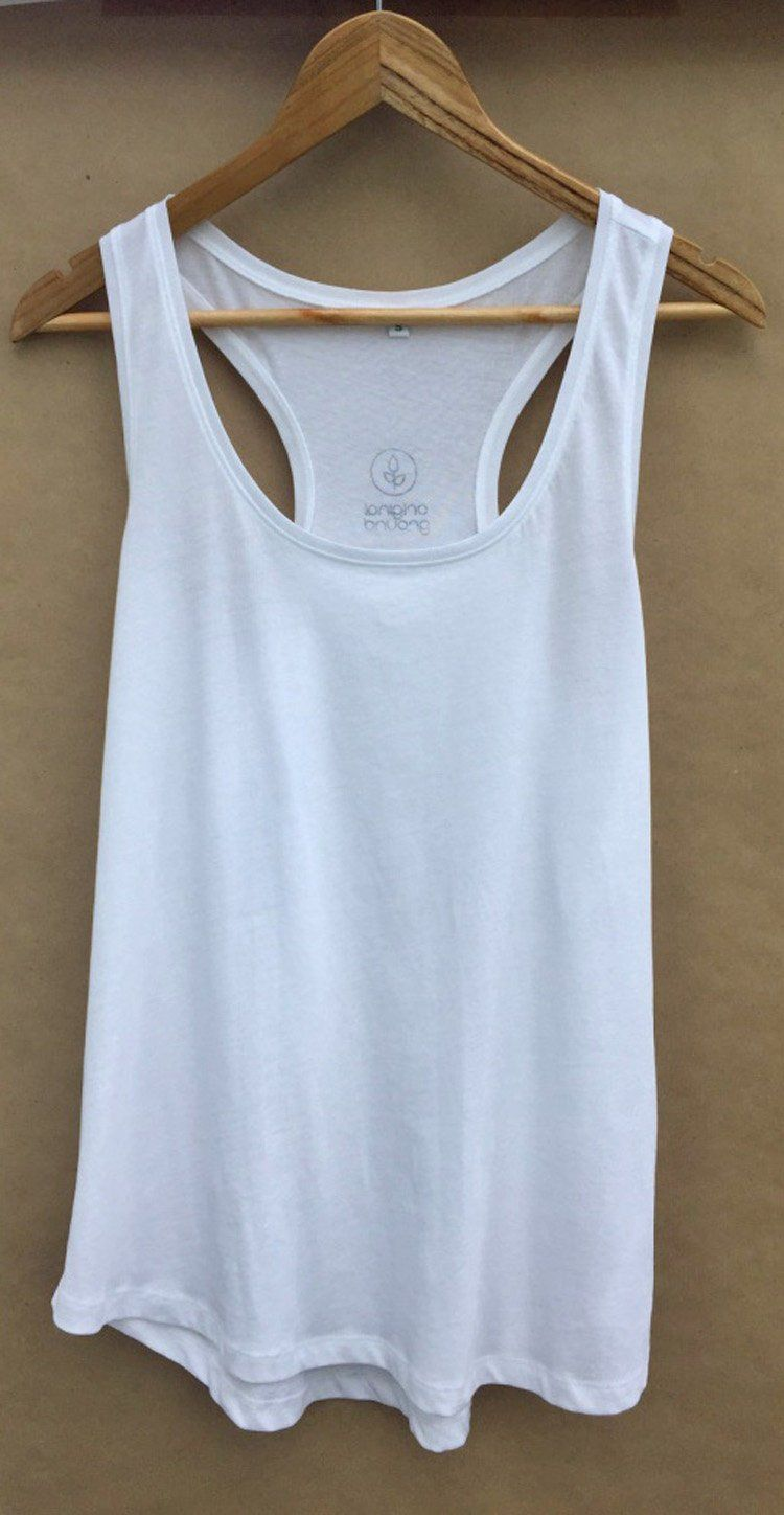 a2a3cab2a87b0 Organic Cotton Fitted Grey Racerback Tank Top