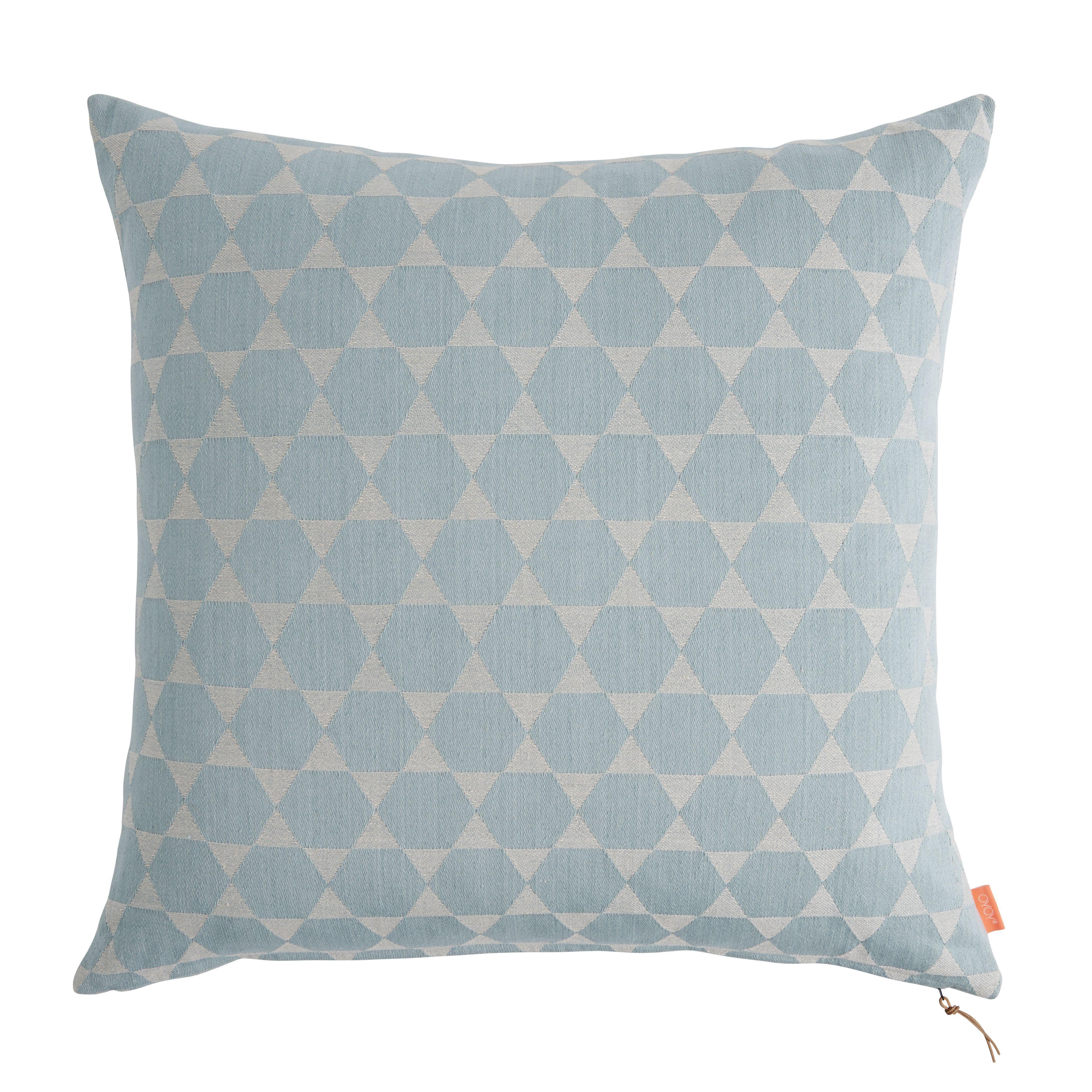 Floor Cushion In Dusty Mint & Light Grey Design By
