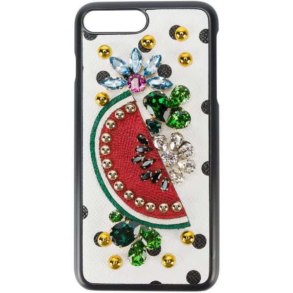 e6a5e6db2554 Dolce   Gabbana crystal embellished iPhone 7 plus case ( 460) ❤ liked on  Polyvore