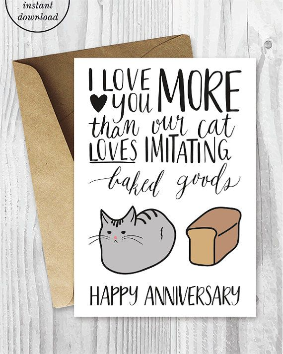 Anniversary Cards Printable Anniversary Card от MiumiCatPrintables   Free  Printable Anniversary Cards For Her  Free Printable Anniversary Cards For Her