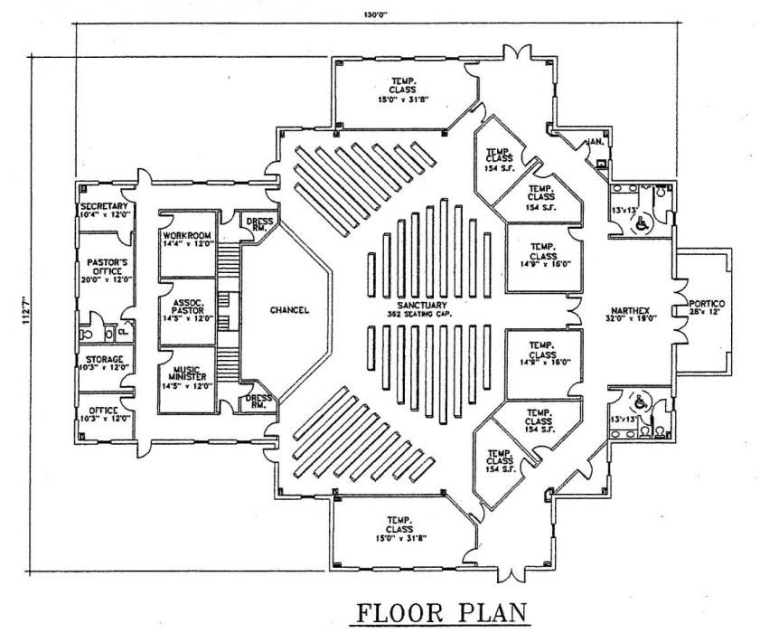 Church plan 123 floor 841 700 pixels lifechurch for Modern church designs and floor plans