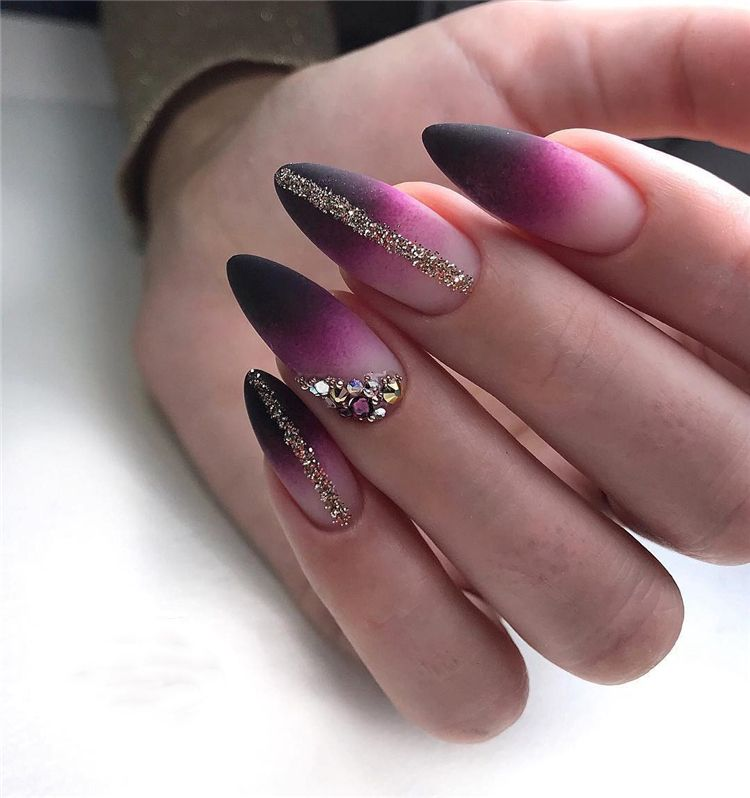80+ Spring Oval Nail Art Ideas 2019