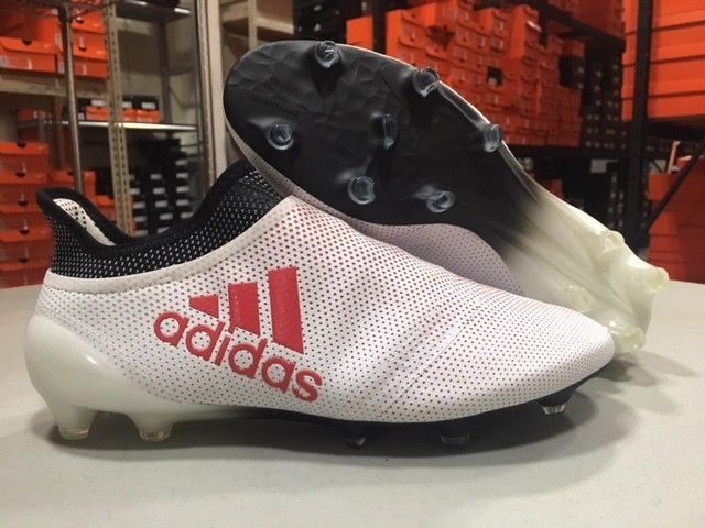 57add18eb70d adidas Men's X 17+ Purespeed FG Soccer Cleats (White/Red/Black) Size: 10 !