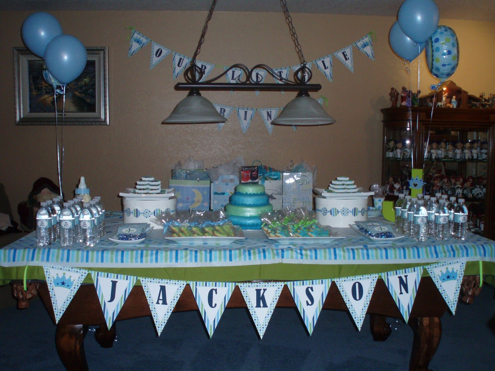 Prince Baby Shower Theme | ... Together A Dessert Table For A Baby Shower