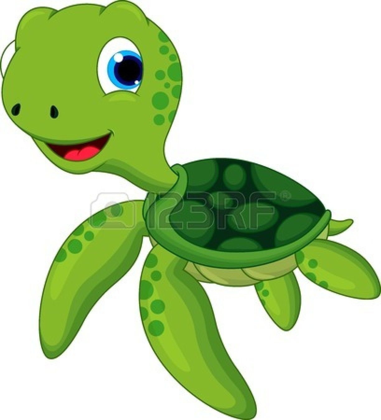 Summer beach scene vector stock vector colourbox - Happy Turtle Cartoon Stock Vector