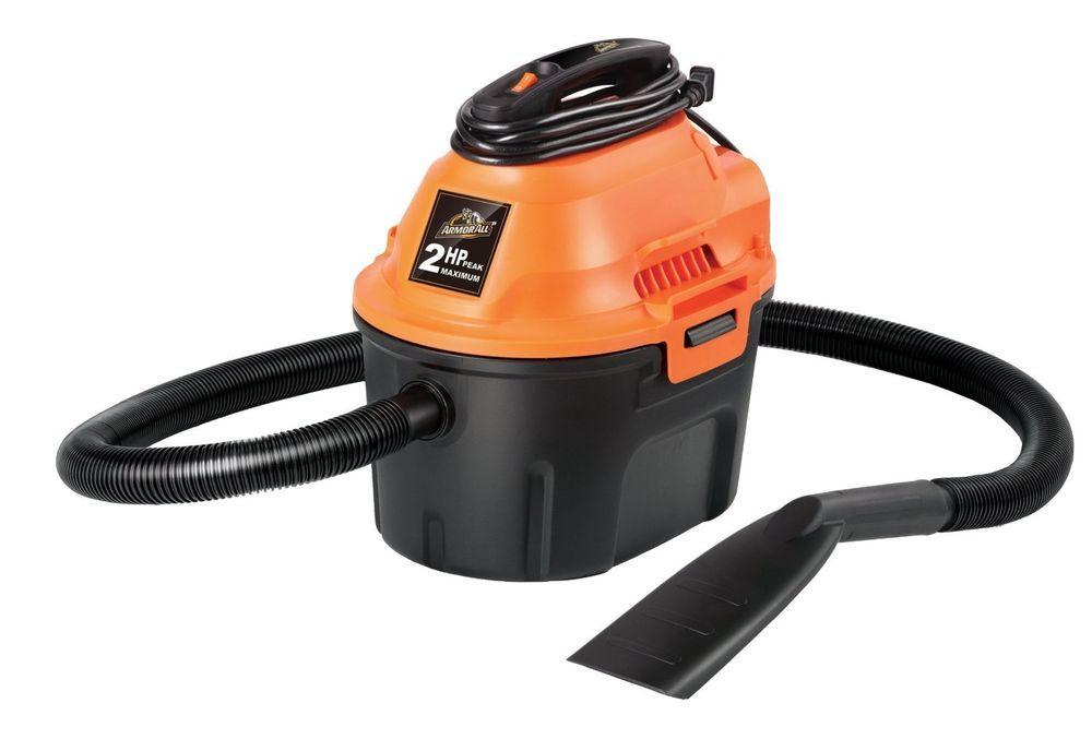 Armor All 2 5 Gallon 2 Peak Hp Utility Wet Dry Cleaner Vacuum