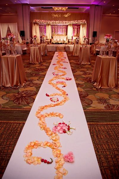 Gorgeous Flower Petal Decor On The Floor Nadia Adil S