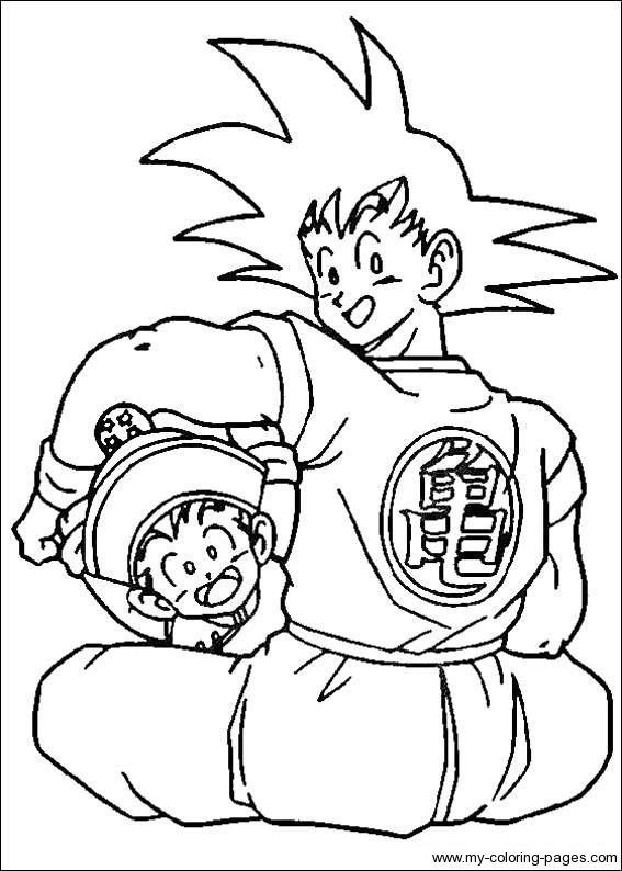 Dragon Ball Z Coloring Pages | mandalas | Pinterest | Dragon ball ...