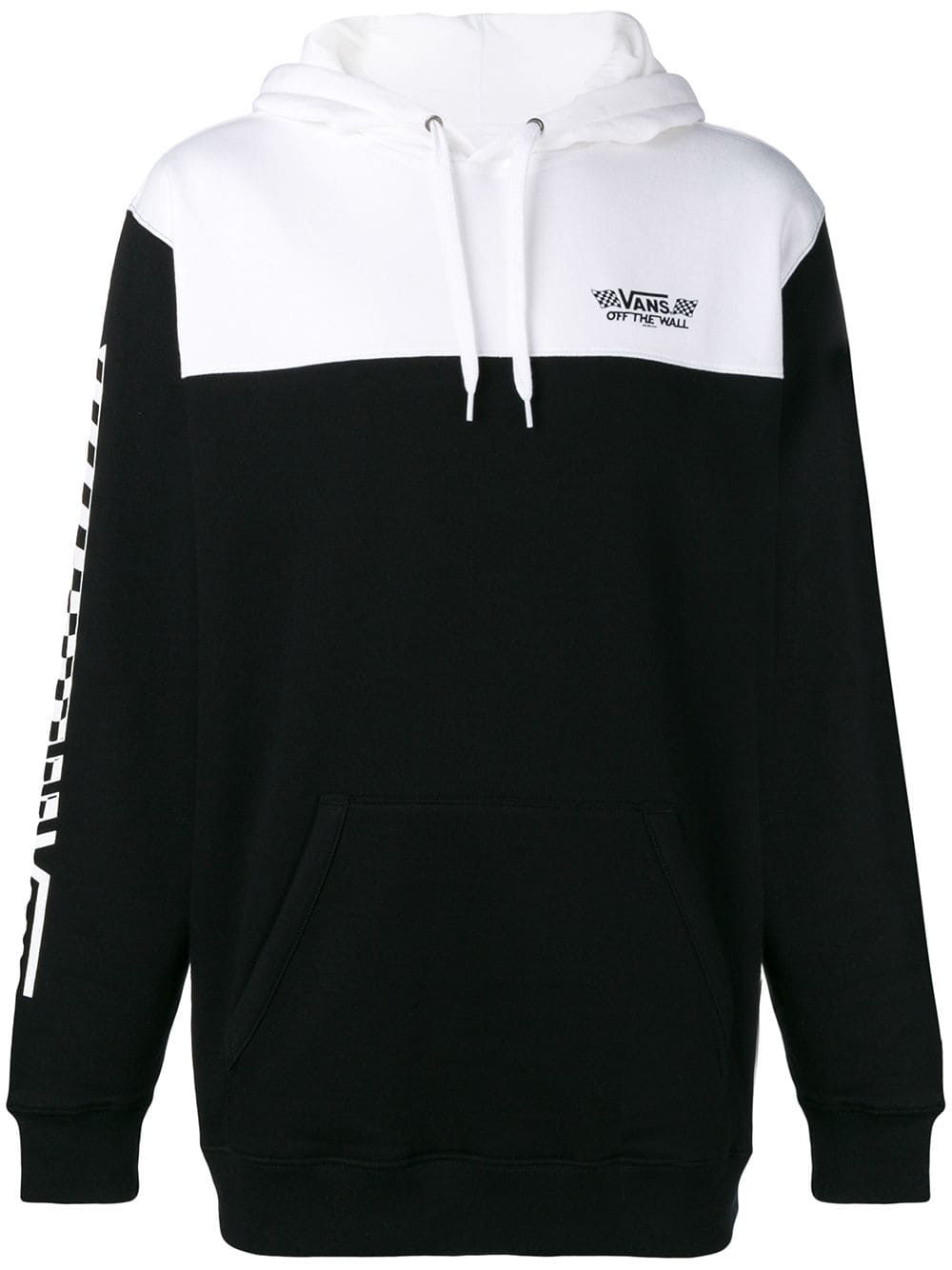 VANS VANS ZIPPED HOODIE - BLACK.  vans  cloth  df6b6326ed7
