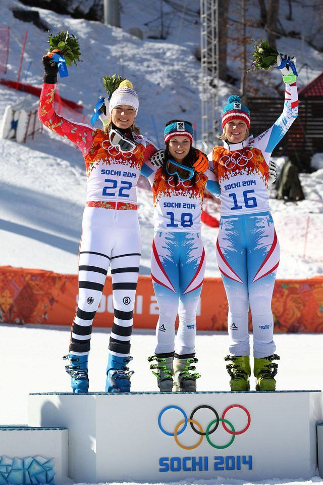 Alpine Skiing - Women's Super-G - Medallists