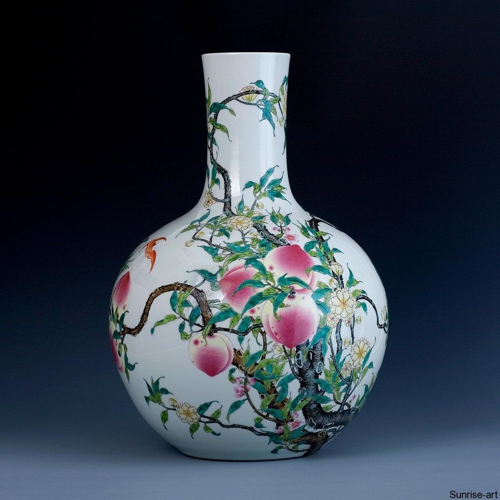 Nine peach bottle vase tianqiuping qy004 gm s pinterest explore painted vases chinese ceramics and more reviewsmspy