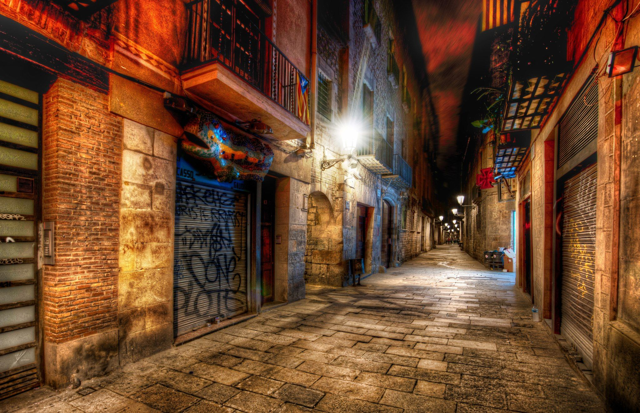 An awesome alley in Barcelona... by Trey Ratcliff