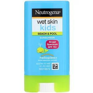 Neutrogena, Wet Skin Kids, Beach & Pool, Sunscreen Stick, SPF 70+, 0.47 oz (13 g) - iHerb