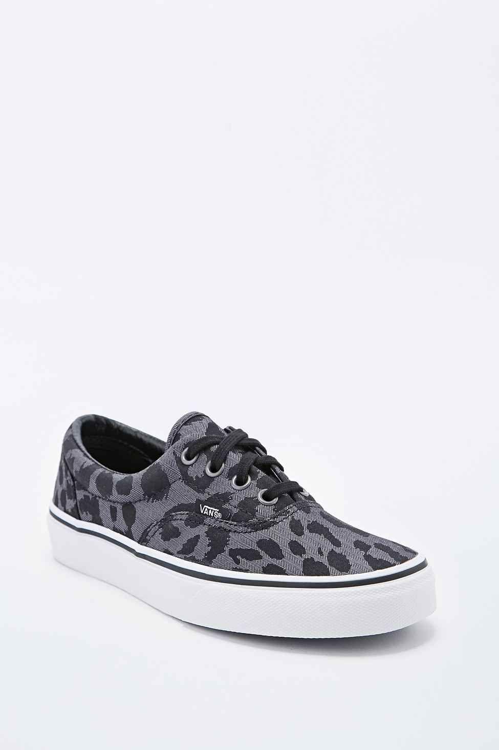 Vans Era Trainers in Leopard Grey  9f63f595099b