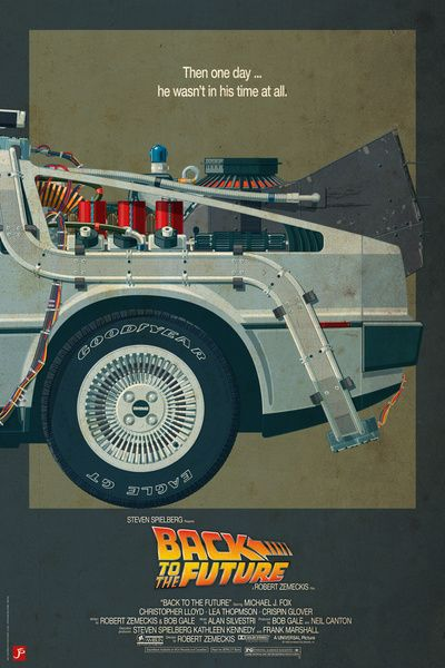 1 Back To The Future Print Delorean Retro Classic Film Vintage Movie Poster