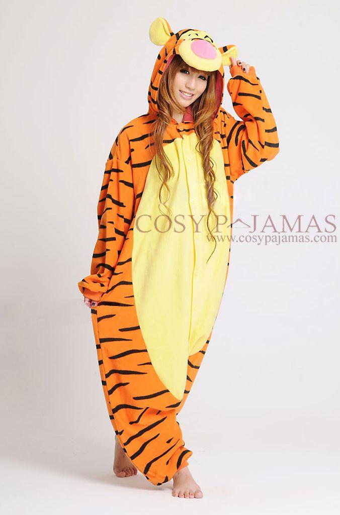 36a8610ee1 Animal Costume Disney Tigger Adult Onesie Kigurumi