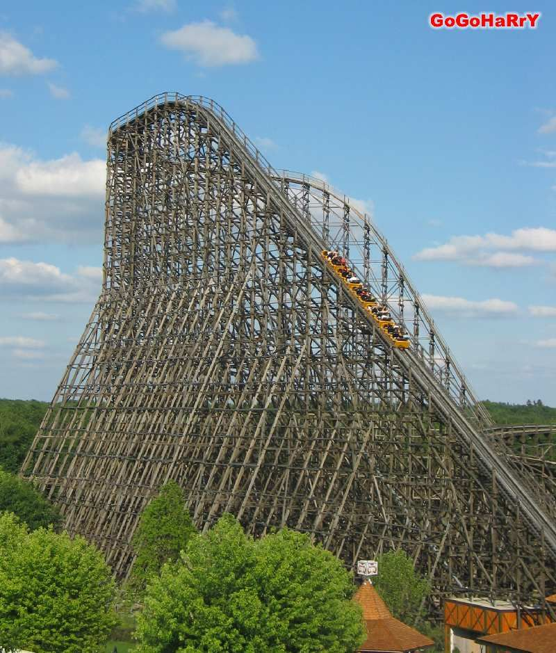 Colossus At Heide Park In Germany Is The Worlds Biggest Wooden