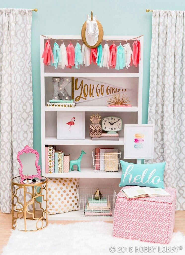 Pink U2013 Accent Pieces Diy Girl Room Decor, Teenage Girl Room Decor, Blue Room