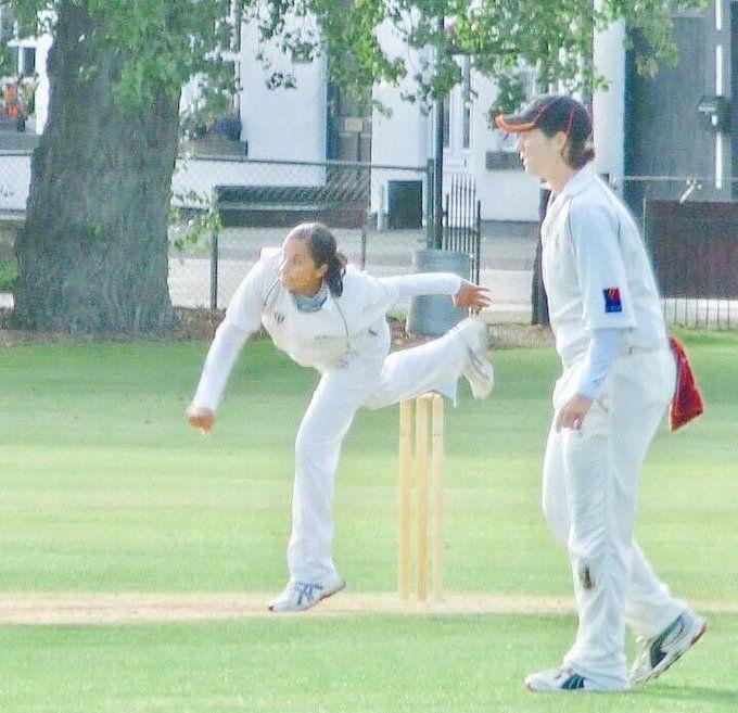 Salma Bi   Playing at Lords
