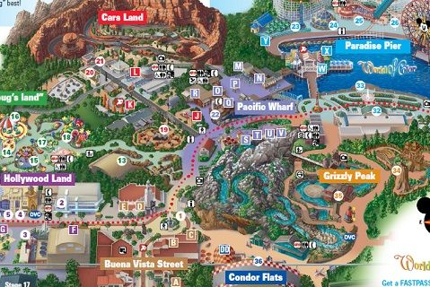 Map Of California Disney.Printable Map Of California Adventure Disney In 2019 Disneyland