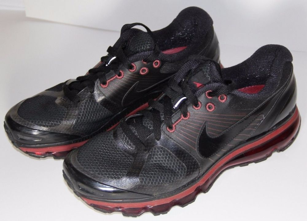first rate ca230 023b2 386368-009 Nike Air max + 2010 Black And Red Size 9 .