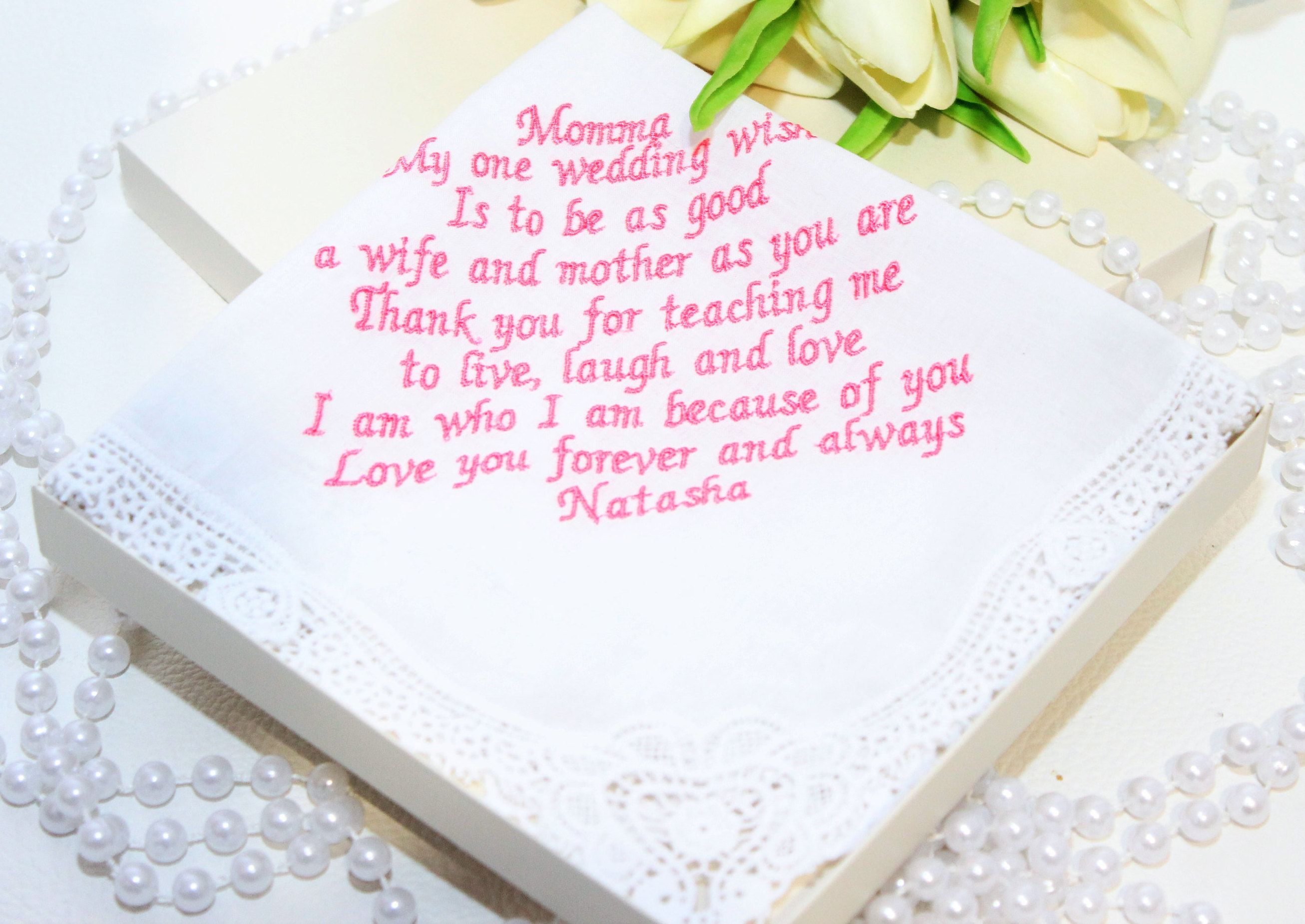 Mother of the groom,mother in law, Personalized embroidered wedding ...