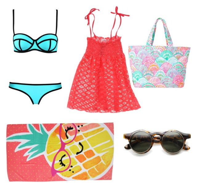 """Untitled #24"" by gracylane on Polyvore featuring Milly, Sundek, Lilly Pulitzer and Evergreen"