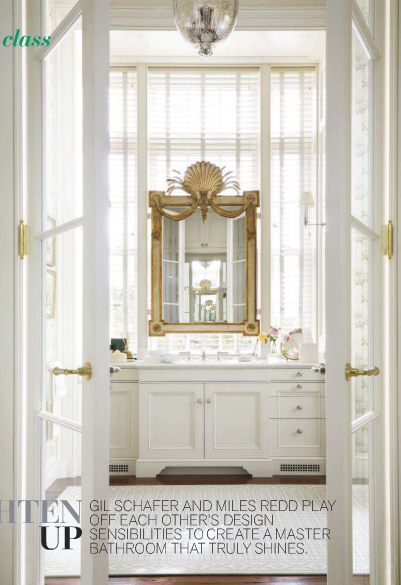 GIL SCHAFER AND MILES REDD ~ BATHROOM DESIGN IN NEW YORK